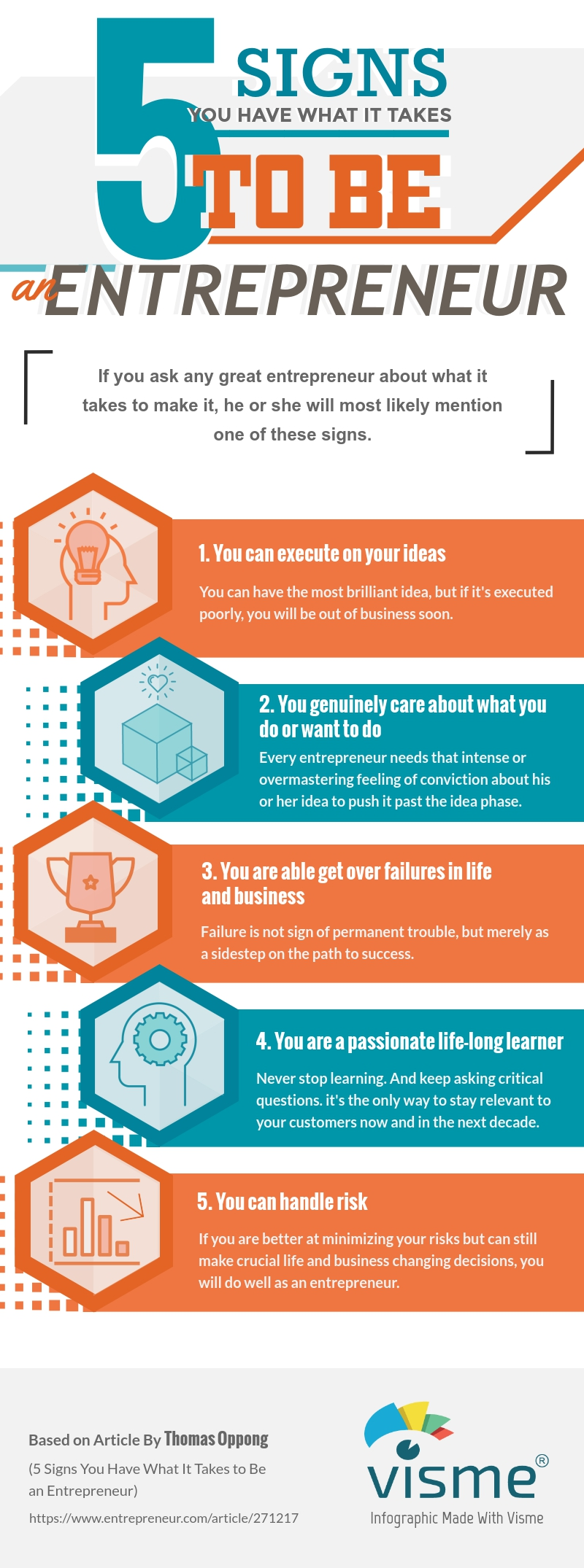 5 Signs You Have What It Takes to be an Entrepreneur