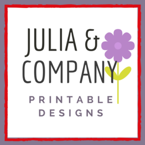Julia and Company Printable Designs on Etsy